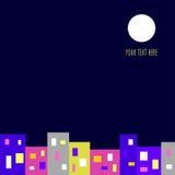 Иллюстрация города ночи Стоковое фото RF