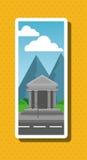Иллюстрация города природы, дизайна вектора, здания и недвижимости связала Стоковые Изображения