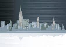 Большая иллюстрация города Стоковое Изображение RF
