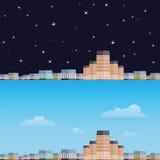 Иллюстрация городского ландшафта Стоковая Фотография RF