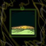 Иллюстрация горы и обоев Солнця Стоковые Изображения RF