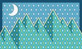 Иллюстрация гор Стоковые Фотографии RF