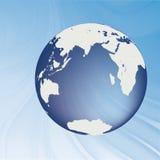 Глобус на волнах Стоковые Фото