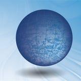 Глобус на волнах Стоковое Изображение