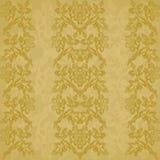 Иллюстрация года сбора винограда золота вертикальной нашивки предпосылки флористическая Стоковые Изображения RF
