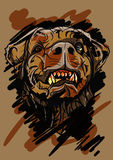 Иллюстрация головы собаки - editable векторная графика Стоковая Фотография