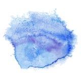 Иллюстрация голубого пятна акварели Стоковые Изображения