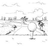 Иллюстрация гольфа Стоковые Фото