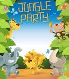 Граница партии джунглей Стоковая Фотография