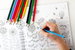 иллюстрация графика расцветки книги цветастая Стоковое Фото