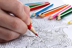 иллюстрация графика расцветки книги цветастая Стоковая Фотография