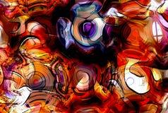 Иллюстрация графического дизайна примечаний и примечания выравнивается в структуре круга, концепции музыки Стоковое Изображение