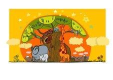 Иллюстрация группы в составе африканский спать животных Стоковая Фотография RF