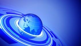 Иллюстрация глобуса с космосом для вашего текста Стоковое фото RF