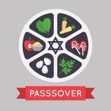 Иллюстрация еврейской пасхи 10 eps Стоковое Фото