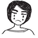 Иллюстрация девушки плача Стоковое Изображение RF
