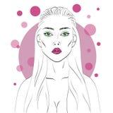 Иллюстрация девушки способа Стоковое фото RF