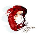 иллюстрация девушки стороны элементов конструкции красотки coloful Стоковые Фото