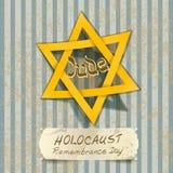 Иллюстрация день памяти погибших в первую и вторую мировые войны холокоста с звездой Дэвида Стоковые Фото