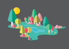 Иллюстрация леса стоковые фото
