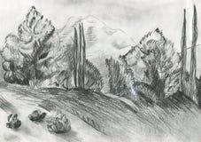 Иллюстрация леса Стоковое фото RF