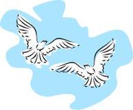 иллюстрация летания пасхи dove Стоковая Фотография RF