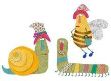 иллюстрация детей персонажей из мультфильма цветастая графическая Стоковое Изображение RF