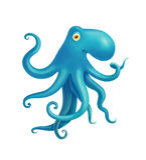 Иллюстрация детей с голубым осьминогом Стоковые Фотографии RF