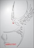 Иллюстрация летящей птицы Стоковые Изображения RF