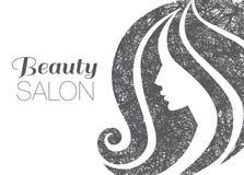 Иллюстрация женщины с красивыми волосами Стоковое Фото