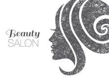 Иллюстрация женщины с красивыми волосами Стоковое Изображение