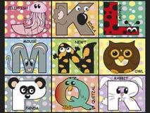 Животный алфавит Стоковое Изображение