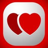 Иллюстрация запаса с мотивом сердца, формой сердца иллюстрация вектора