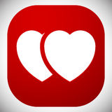 Иллюстрация запаса с мотивом сердца, формой сердца иллюстрация штока