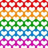 Иллюстрация запаса с мотивом сердца, формой сердца Стоковые Изображения RF