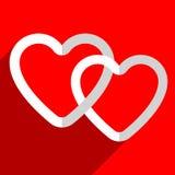Иллюстрация запаса с мотивом сердца, формой сердца Стоковые Изображения