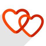 Иллюстрация запаса с мотивом сердца, формой сердца Стоковое Изображение RF