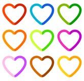 Иллюстрация запаса с мотивом сердца, формой сердца Стоковые Фото