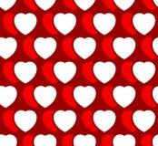 Иллюстрация запаса с мотивом сердца, формой сердца Стоковое Изображение