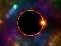 иллюстрация затмения конструкции черноты предпосылки солнечная Стоковое Изображение