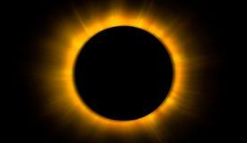 иллюстрация затмения конструкции черноты предпосылки солнечная Стоковые Фотографии RF