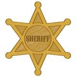 Значок звезды шерифа Стоковая Фотография