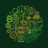 Иллюстрация землеведения вектора Стоковое Изображение RF