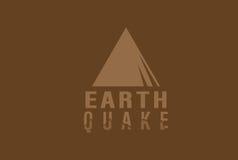 Иллюстрация землетрясения Стоковые Фотографии RF
