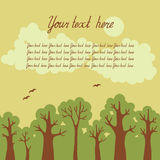 Иллюстрация зеленого лиственного леса с pla Стоковое Фото