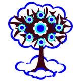 Иллюстрация зимы дерева Стоковая Фотография