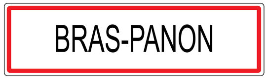 Иллюстрация знака городского транспорта Panon бюстгальтеров в Франции иллюстрация вектора