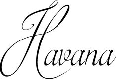 Иллюстрация знака текста Гаваны Стоковые Фото