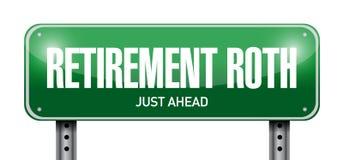 иллюстрация знака улицы roth выхода на пенсию Стоковое фото RF