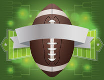 Иллюстрация знамени американского футбола Стоковые Фотографии RF